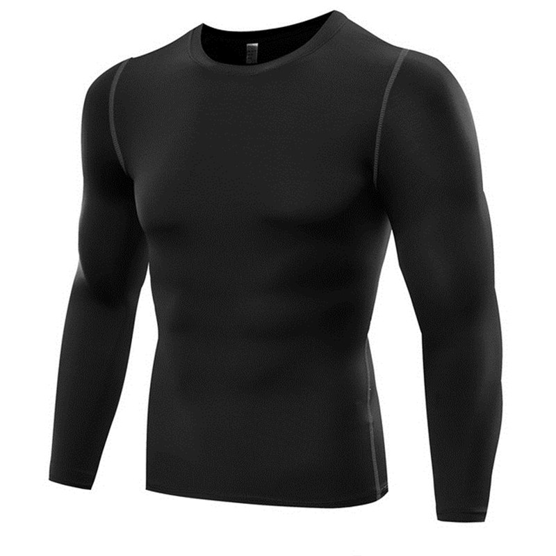 Men Quick Dry Running T Shirts Compression Slim Fit Tops Tees Sport Tights Men 39 s Fitness Gym T Shirts Muscle Tee Training Wear in Running T Shirts from Sports amp Entertainment