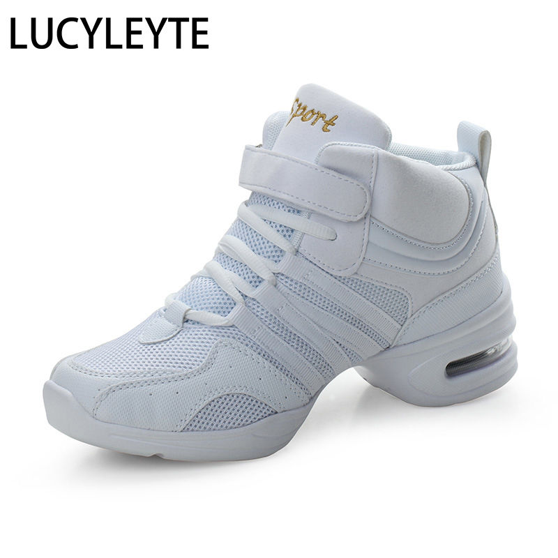 2019 Sports Feature Soft Outsole Breath Dance Shoes Sneakers For Woman Practice Shoes Modern Dance Jazz Shoes Discount High Shoe