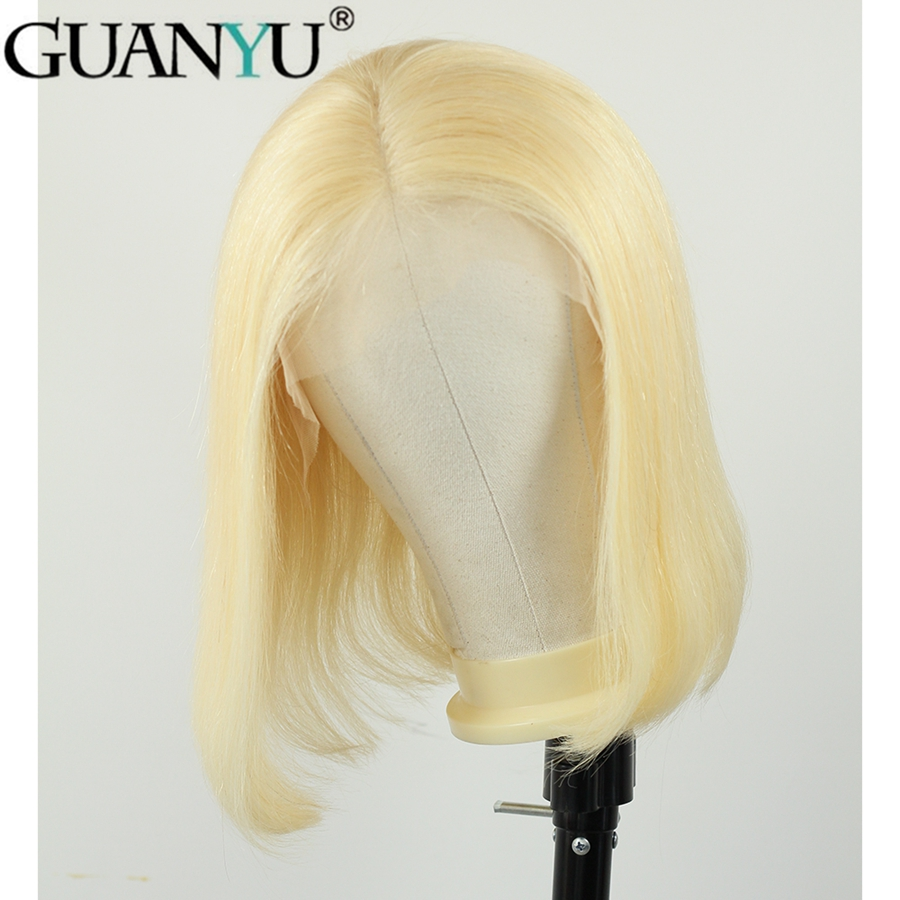 613 Blonde 13 4 Lace Front Human Hair Wigs 150 Density Brazilian Short Bob Straight Remy