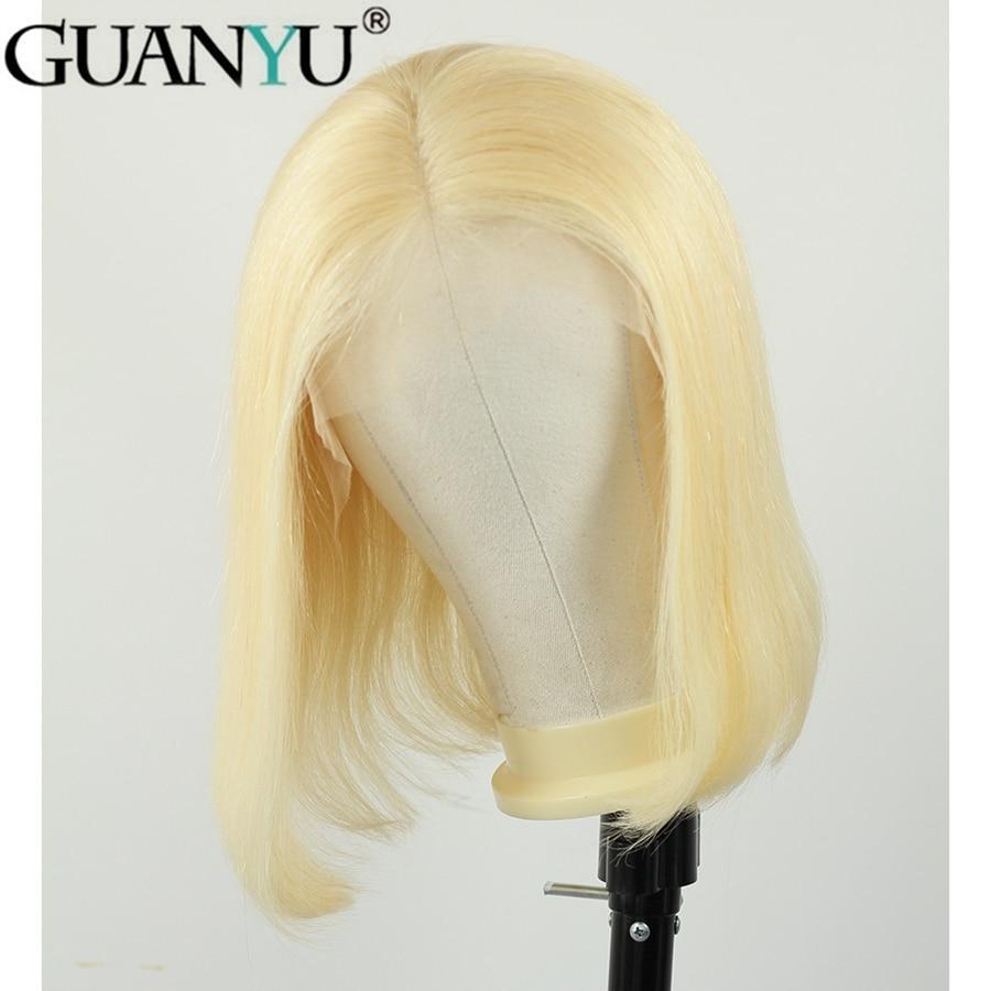 613 Blonde 13 4 Lace Front Human Hair Wigs 150 Density Brazilian Short Bob Straight Remy