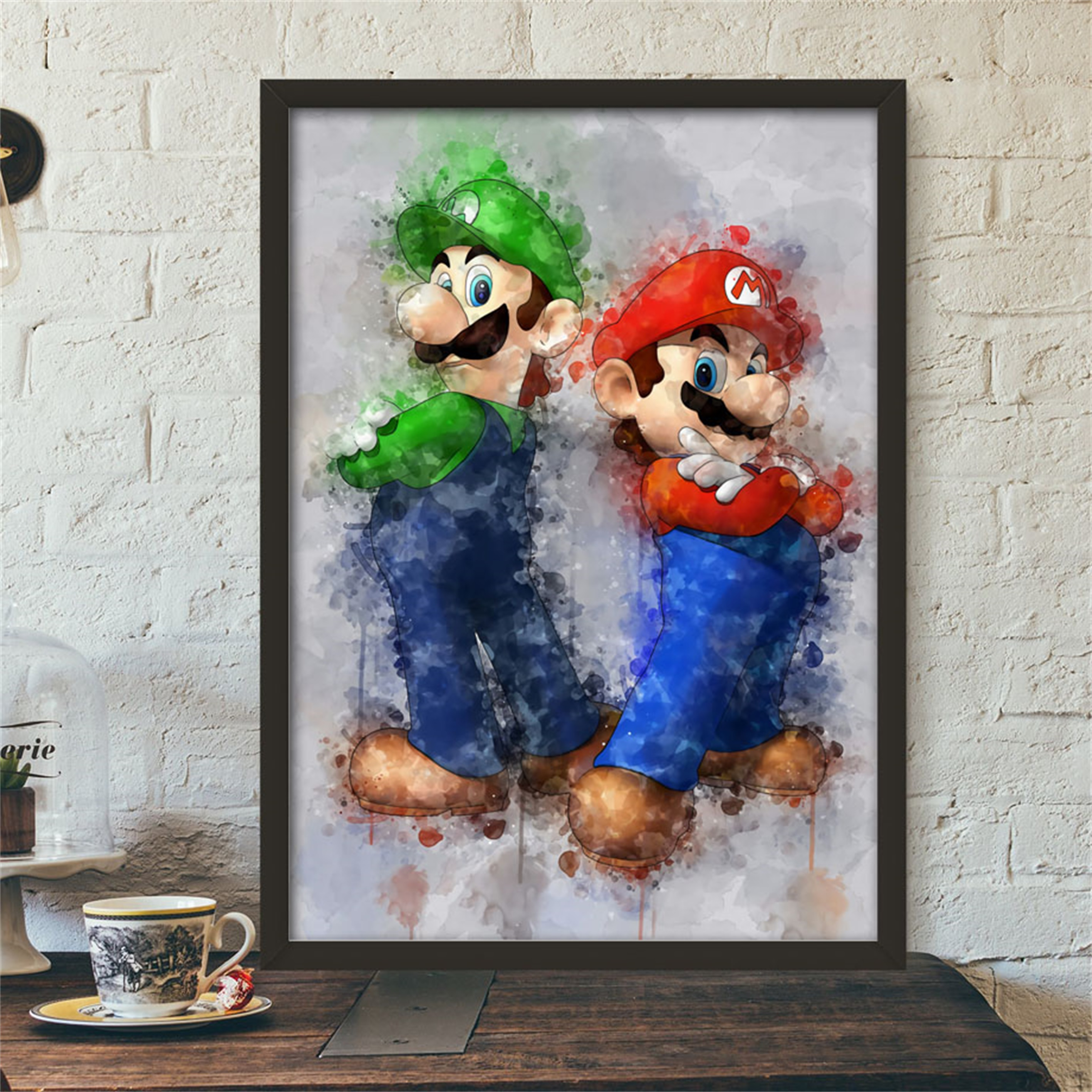 Anime Game Super Mario Bros Bowser Yoshi Wall Art Canvas Painting Posters And Prints Wall Pictures Baby Kids Room quadro cuadros(China)