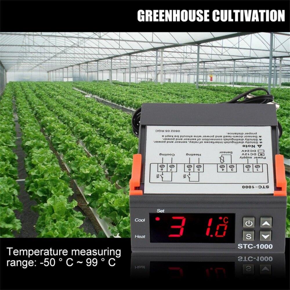 Newest Temperature Controller Thermostat Aquarium STC1000 Incubator Cold Chain Temp Wholesale Laboratories Temperature