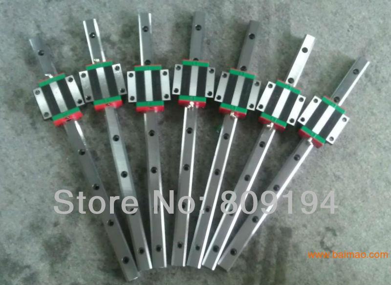 HIWIN Linear Guide HGR15 L500mm rail with 2pcs HGW15 CC цены