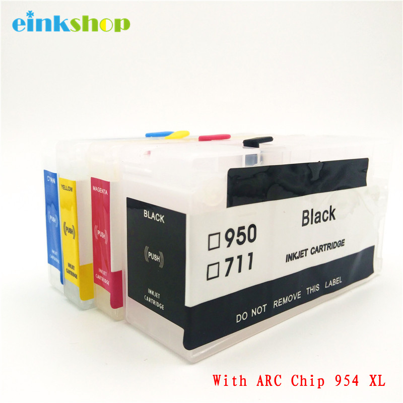 einkshop 954 Refillable Cartridge Replacement For HP 954XL 954 XL OfficeJet Pro 7740 8210 8710 8720
