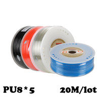 PU8*5 20M/lot Joint pneumatic hose Pneumatic parts 8mm PU Pipe hose 8*5 Compressor hose Free shippingpneumatics tube