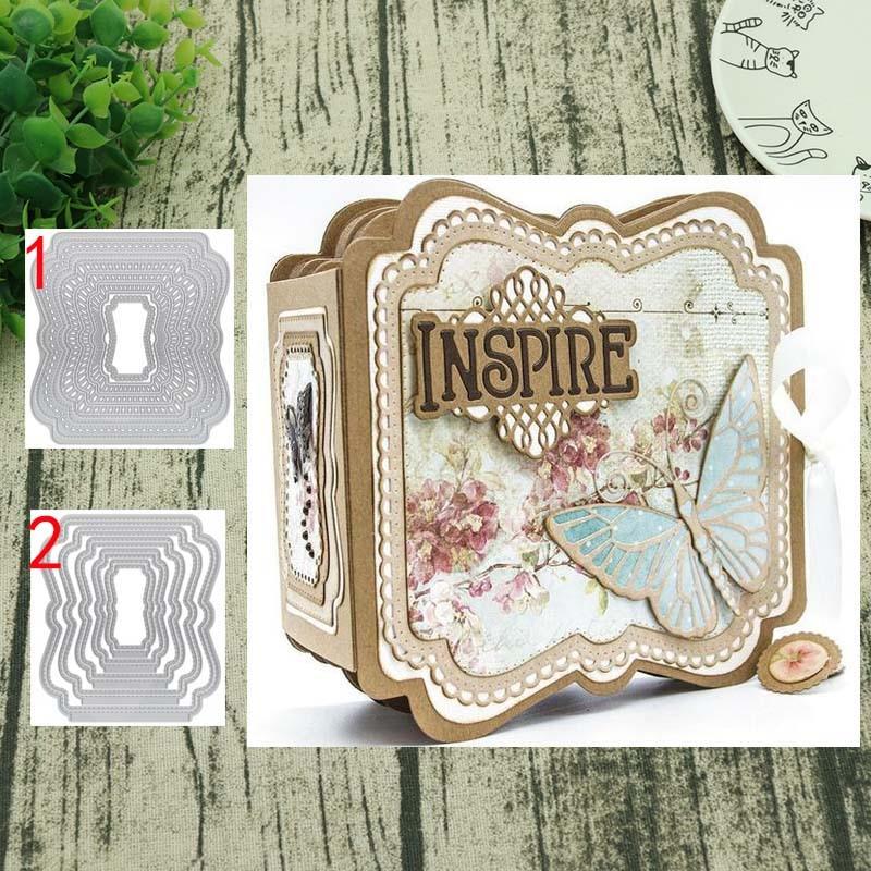 rectangular embroidery metal cutting dies stencil scrapbook album paper craft UK