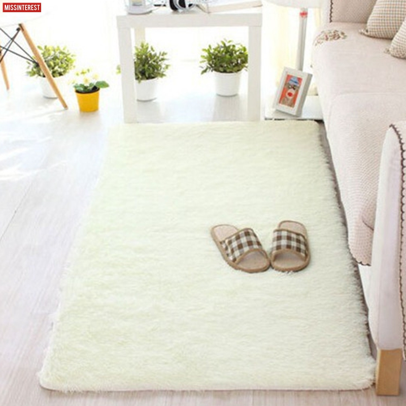Missinterest Long Plush Anti-Slip Soft Mat For Home Living Room Bedroom Shaggy Thicken Floor Kids Carpets Door Mat Rug Tapete