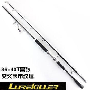 Lurekiller 2.4m Strong Hard Jigging Rod Deep Sea Fishing Rod Fuji Guide GT Popping Rod Ocean Boat Big Game Saltwater Fish Rod