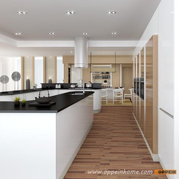 Tailand Projekt Modernen Schrank Weiß Lack Küche Design Layout OP15 ...
