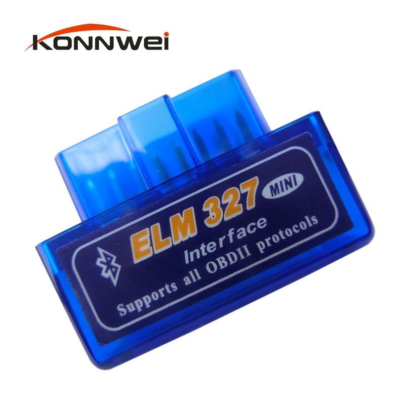 Prix pour Super Mini Elm327 Bluetooth OBD2 V2.1 Elm 327 V 2.1 Android adaptateur De Voiture Scanner OBD 2 Elm-327 OBDII Auto Outil De Diagnostic Scanner