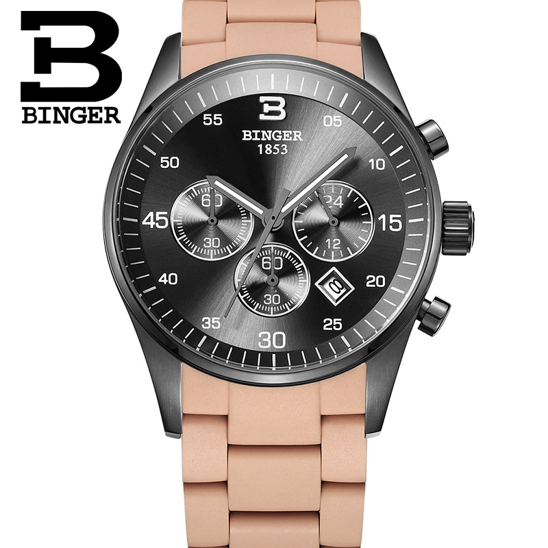 Hot Fashion men table top brand luxury Six colors Depth of waterproof 30M watches Chronograph Sport military watch montre homme