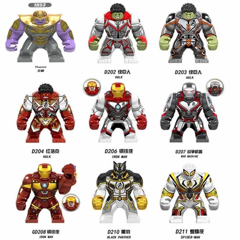 Legoing الأعجوبة المنتقمون Endgame لعب الرجل الحديدي الهيكل الشكل بطل السوبر ثانوس الكابتن أمريكا اللبنات لعبة DIY أرقام مدينة
