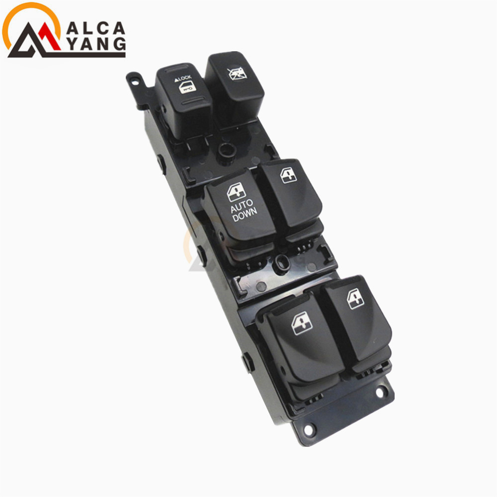 Malcayang Master Power Control Window Switch for Hyundai Accent 2007-2008 93570-1E110 935701E110 for hyundai elantra front left driver side master power window switch 2001 02 03 04 05 2006 93570 2d000