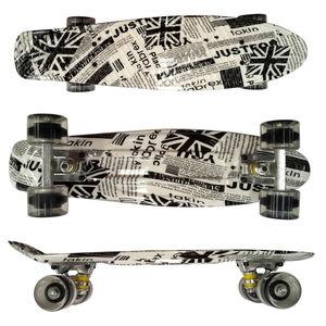 Image 2 - ¡Nuevo! Mini Tabla de Skate Original de 22 pulgadas con nuevo patrón de papel para que los patinadores disfruten de la Mini tabla cohete de skateboarding