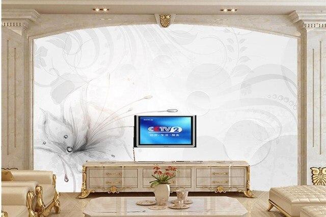 Elegante bella 3D fantasia fiori carta da parati, soggiorno divano ...