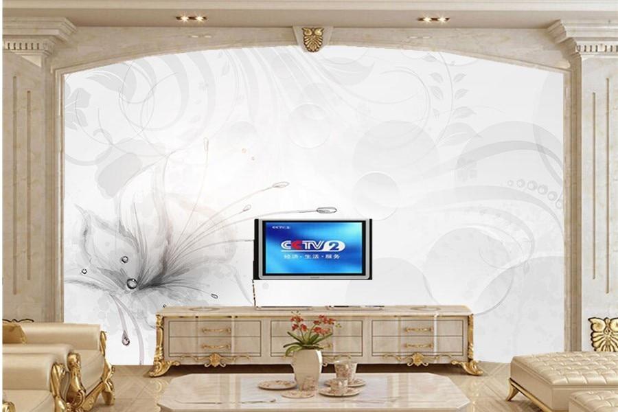 US $11.1 63% OFF|Elegante schöne 3D fantasie blumen tapete, wohnzimmer tv  sofa wand schlafzimmer moderne tapete große wandbilder papel de parede-in  ...