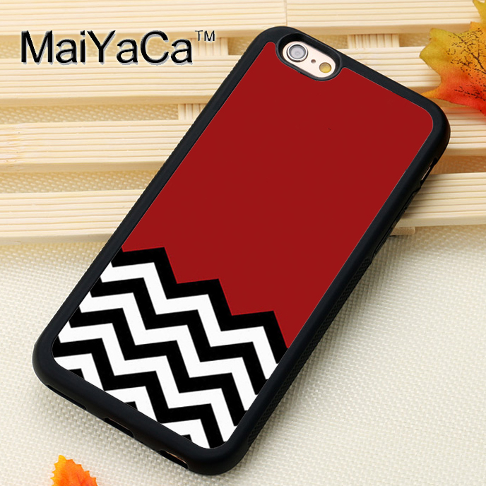MaiYaCa TWIN PEAKS CHEVRON PATTERN Print Soft TPU Skin Mobile Phone Cases Bags For iPhone X 6 6S Plus 7 8 Plus 5S SE Back Cover