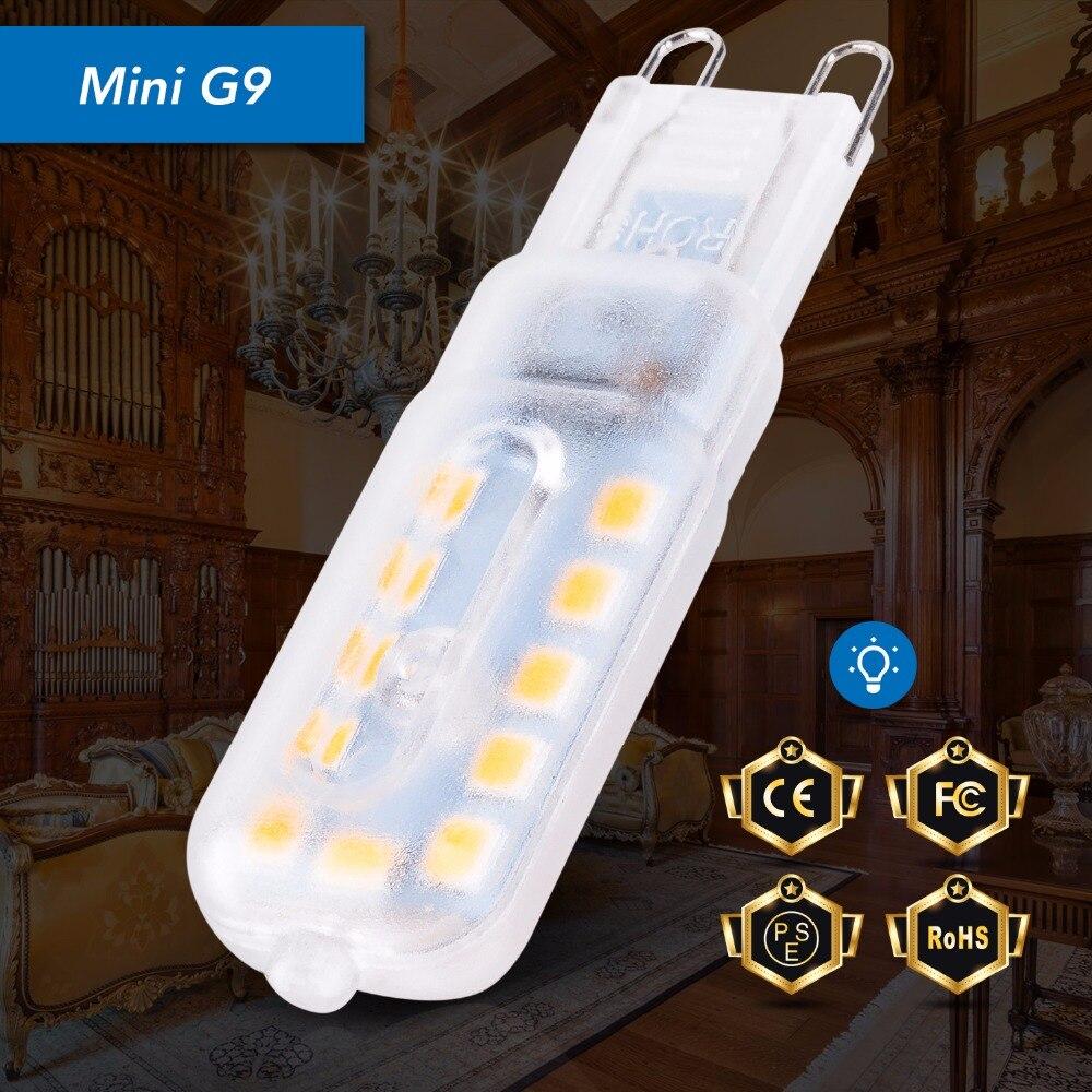 Mini G9 LED Bulb Corn Light 2835 Spotlight Bulb 220V Bombillas Led 3W 5W Replace Halogen Lamp Energy Saving LED Chandelier Home