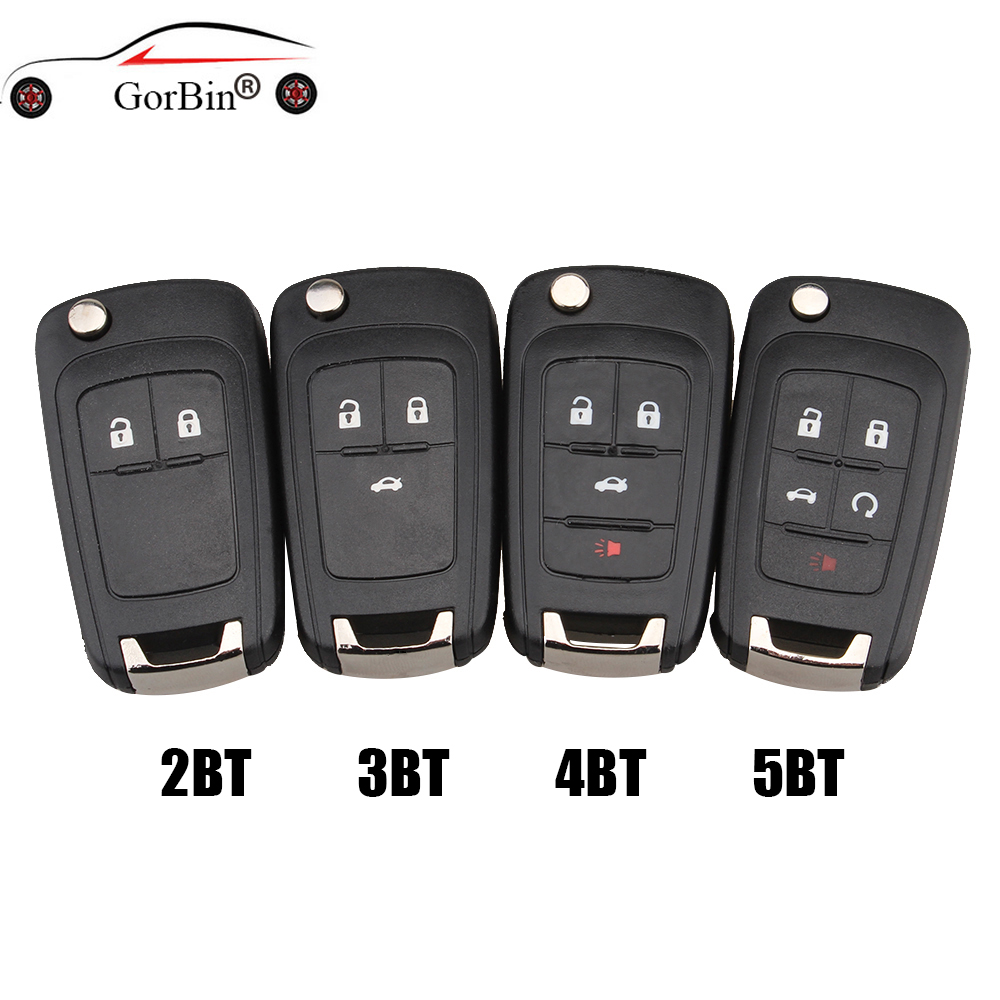 Flip Key Shell Cover for Chevrolet Cruze Remote Case Uncut HU100 Blade 2 buttons