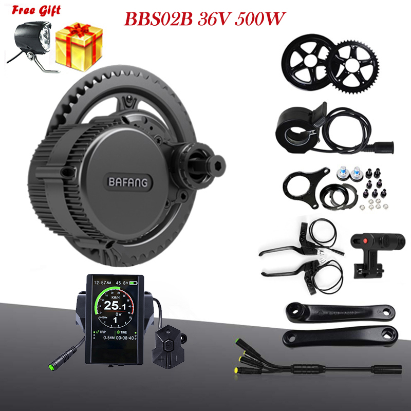 Bafang 8fun BBS02B 36V 500W MM G340 500 Electric Bike Mid Drive Motor Conversion Kits For