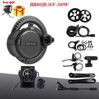 Bafang 8fun BBS02B 36V 500W MM G340.500 Electric Bike Mid Drive Motor Conversion Kits For Bicycle Engine Kit BBS02