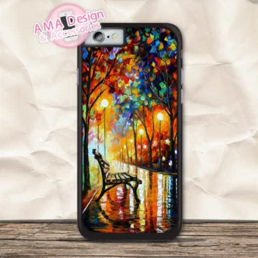The Lonely Park Classic Painting Cover Case For iPhone X 8 7 6 6s Plus 5 5s SE 5c 4 4s For iPod Touch