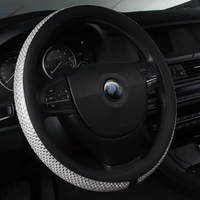 car steering wheel cover accessories non slip leather for jaguar E PACE F PACE I PACE XE XF XJ Jeep Compass 2007 2017 2018