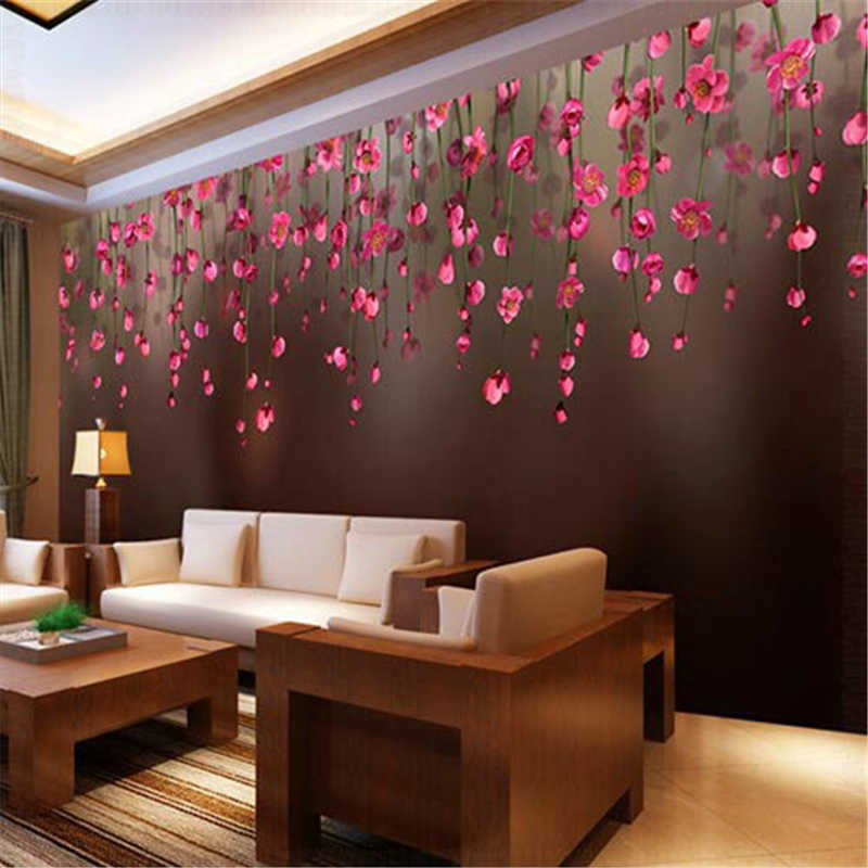 beibehang Chuihua Rose Custom papel de parede photo wallpaper 3D wallpaper restaurant sofa backdrop 3d wallpaper for walls 3 d