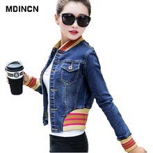 MDINCN Slim Women Basic Coat Denim Jacket Women Autumn And W
