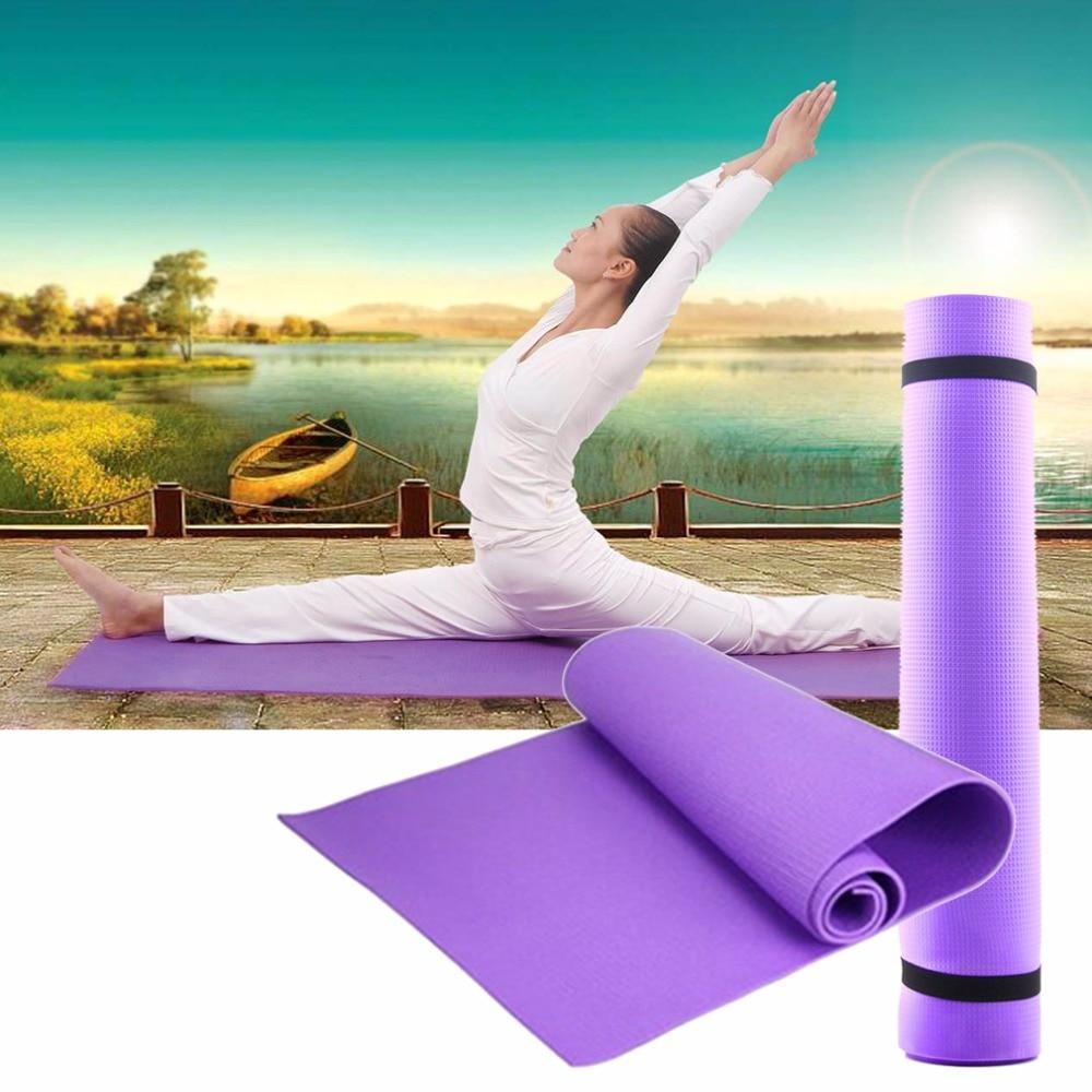 Yoga font b Mat b font Pilates 6MM Thick Non slip Exercise Pad Gym Belt Fitness