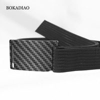 BOKADIAO Casual Jeans belt nylon Hypoallergenic carbon fiber buckle men&women canvas belt Quick release tactical belt male strap
