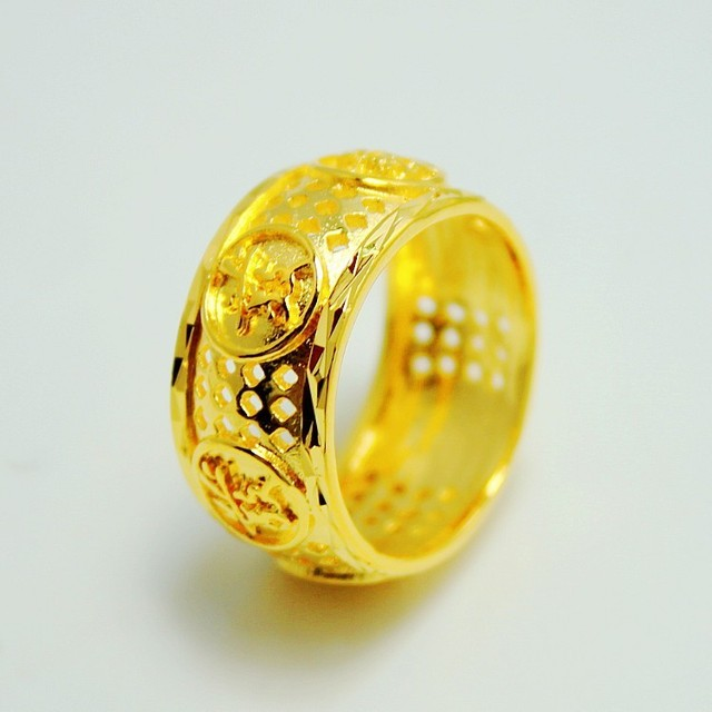 Chinese Character Gold Ring