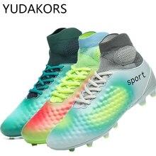 YUDAKORS niños niñas al aire libre fútbol tacos zapatos tobillo botas de  fútbol entrenamiento de fútbol 7fd4bb2fbd7ce