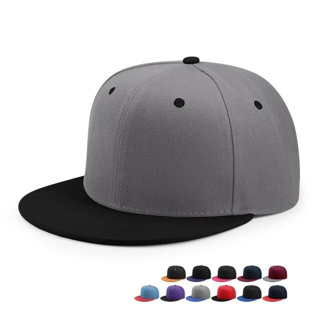Venta al por mayor Hip Hop gorra plana pico adulto Color sólido parche  béisbol sombrero mujeres 8da40400b6d