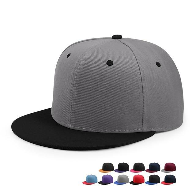dcef908283d Wholesale Hip Hop Flat Peaked Cap Adult Solid Color Patched Baseball Hat  Women and Men Logo