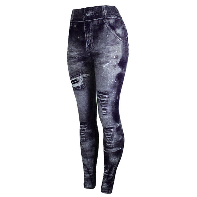 Jeans Bottom Pants Coloured Hip-up Super Bomb Slim Nine-minute Pants Tight Elasticity Pants Pantalones Mujer 3