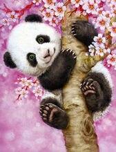 Peinture diamant 5d à faire bricolage-même, broderie de strass, broderie de points de croix, dessin de panda animal