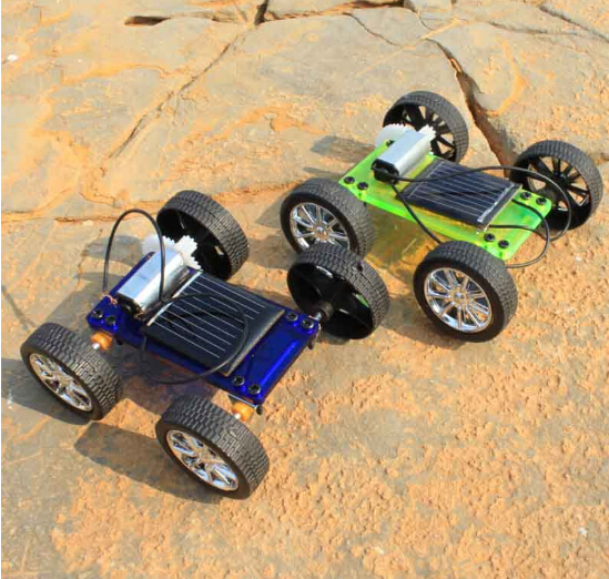 Assembly Mini Solar Powered Toy DIY Car Kit Children Gift