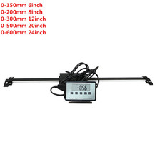 150mm 200mm 300mm 500mm 600mm Digital Scales Remote Digital Table Readout Scale for Bridgeport Mill Lathe Linear Ruler with Base