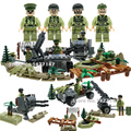 WW2 military building set blocks army with weapons toys for children  compatible with lepin