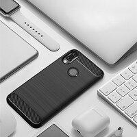 "soft tpu For Xiaomi Redmi Note7 Case Bumper Carbon Fiber Pattern Soft Silicone TPU Back Protective Cover Anti-fall Soft Shell 6.3"" (2)"