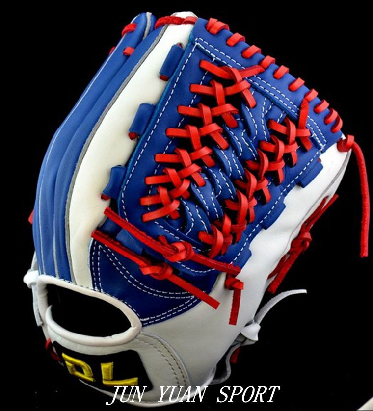 High quality Professional Weave cowhide leather baseball gloves tongue blue softball infielder gloves adult man,Free shipping!