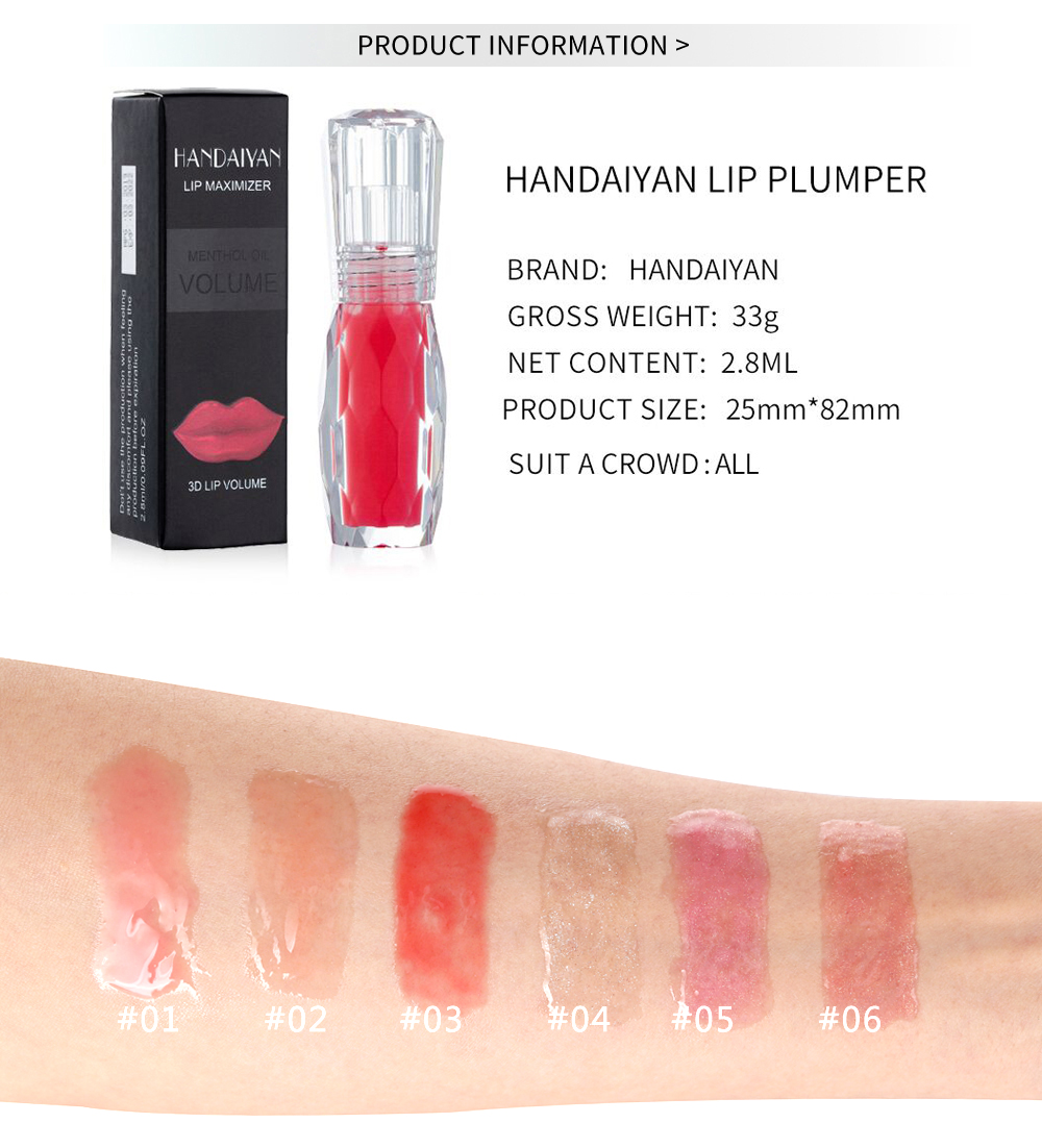 Moisturizer Plumper Lip Gloss Long Lasting Sexy Big Lips