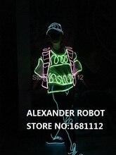 luminous costume Picture/ EL / lluminated EL suit / lluminated EL / light up dress