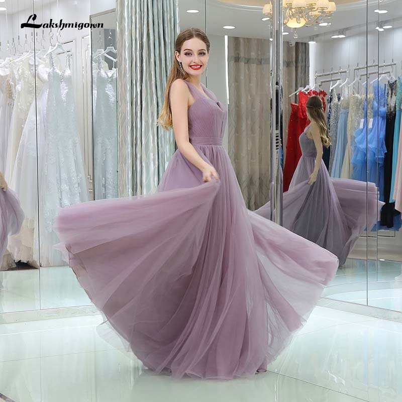 Light purple Tulle Bridesmaid Dresses Sweetheart Long Party Dresses for Bridesmaids  Dresses -in Bridesmaid Dresses from Weddings   Events on Aliexpress.com ... bf9c263f7a53