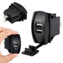 3.1A 12-24 в светодиодный универсальный автомобильный зарядное устройство водонепроницаемый двойной USB порт зарядное устройство розетка для мотоцикла авто аксессуары для кемпинга