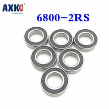 2021 Rodamientos Druklager Rolamentos Axk 6800rs 6800 2rs Abec-3 (10Pcs) 10X19X5Mm Metric Dunne Gedeelte Lagers 61800rs