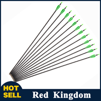 12pc 2016 New Recure Bow Carbon Arrow For Archery Hunting Shooting Spine700 OD7mm Carbon Arrows Hunting