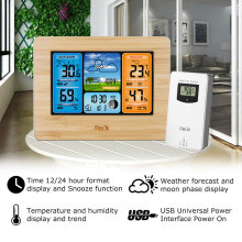 Alarm Clocks Weather Alarm Clock Home Double Alarm Clock Indoor/Outdoor Temperature Humidity Weather Forecast 5.9 Inch LCD weather station temperature humidity wireless sensor indoor outdoor colorful lcd display weather forecast alarm clock