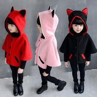 MUQGEW Girls Clothes Autumn Winter Cloak Waistcoat Thick Coat Warm Outwear Clothes Kids Hip Hop Clothing